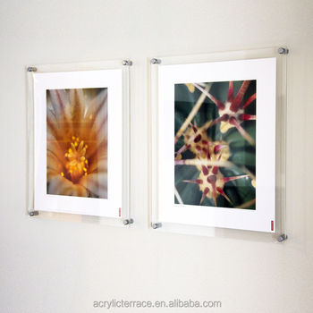 Wall Mounted Clear Acrylic Perspex Photo Frames Poster Kits Mount Picture Handmade Product On