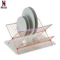 Copper plated dish rack,dish drying rack,rose gold dish rack