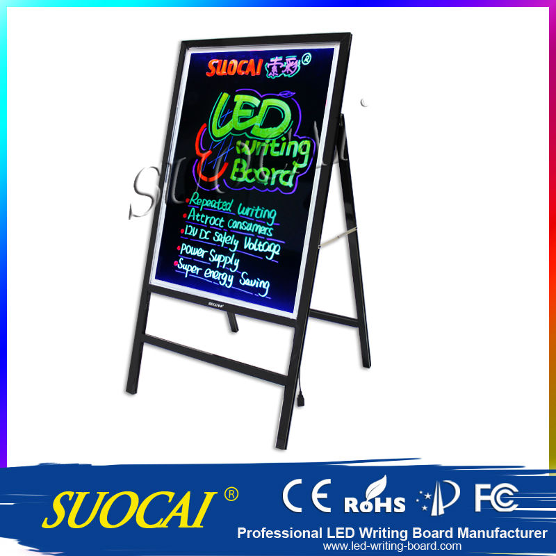 New 2014 Led Fluorescent Markers Board PIZARRA PARED Illuminated Bulletin Boards