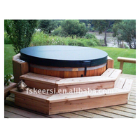 Round spa covers for hot tubs