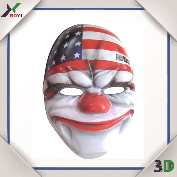 vacuum formed lion face plastic face mask