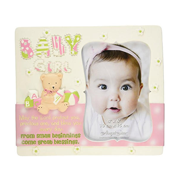 Hot Sale Personalized Handmade Polyresin Baby Girl Photo Frame
