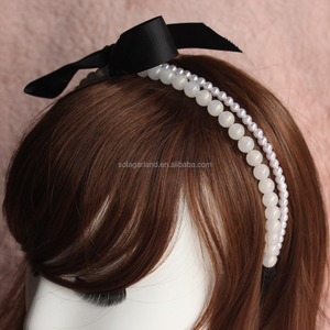 Factory Serve Graceful Pearl Bowknot Headpiece For Girls