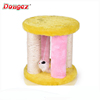 China supplier colorfully soft plush cat scratcher board/ cat small tree