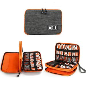 Electronics Digital Accessories Organizer Travel Cable Storage Bag for USB Cable, Charger, Headphone, Power Bank