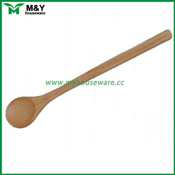 100% natural bamboo baby spoon with long handle