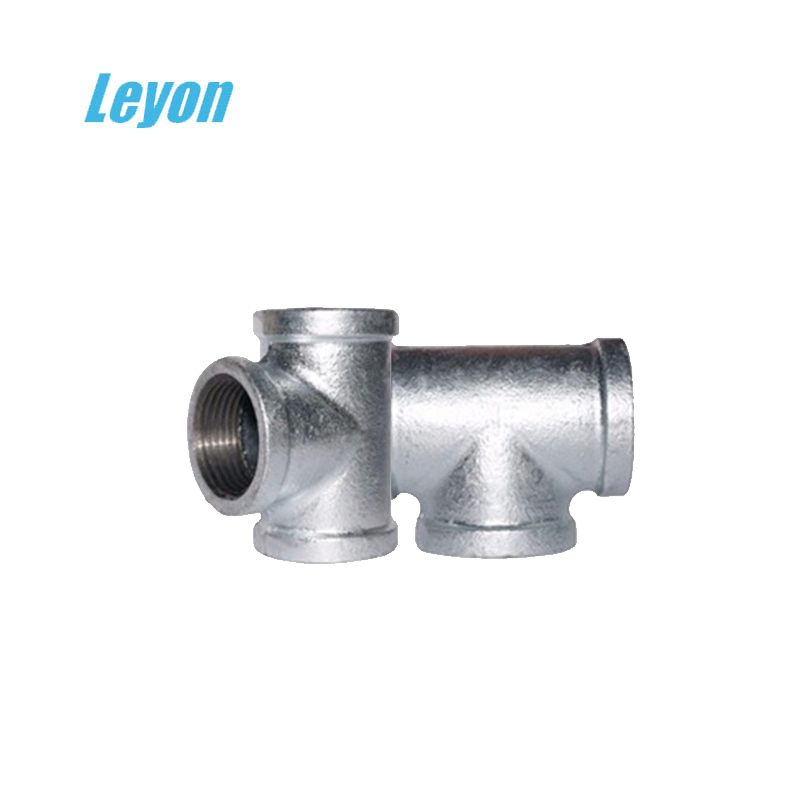 water wasting tee connector no.130 plain equal 90 degree threaded tee fitting straight gi tee pipe fitting