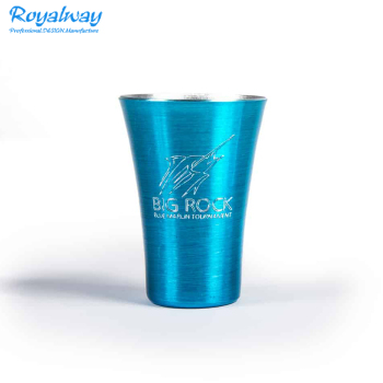 2oz Personalized Shot Glasses, Old Aluminum Drinking Glasses