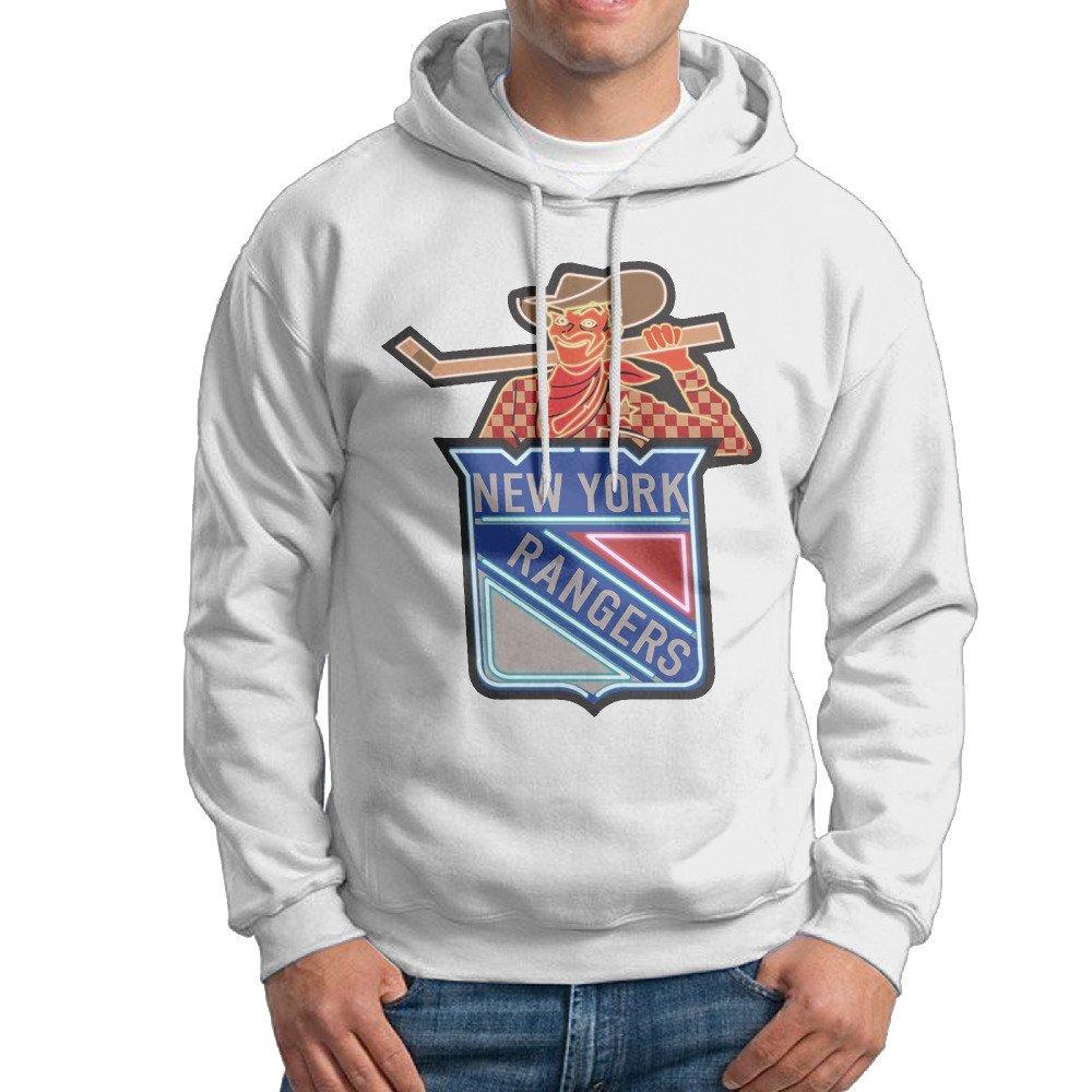 MCDB Men's New York Neon Men Rangers Outdoor Hoodies White