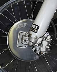 Devol Aluminum Disc Guards Front - Yamaha YZ125 2003-2004 / YZ125/250 2002 / YZ125/250 2005-2013 / WR250F 2002-2008 / YZ250 2003-2004 / YZ250F 2002-2008 / YZ250F 2009-2013 / WR426/YZ426F 2002 / WR450 2003-2008 / YZ450F 2003-2005 / YZ450F 2006-2009 /