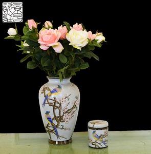 Santuario Gaia & Vintage cheap wholesale ceramic porcelain white cloisonne art deco luxury angel flower vase