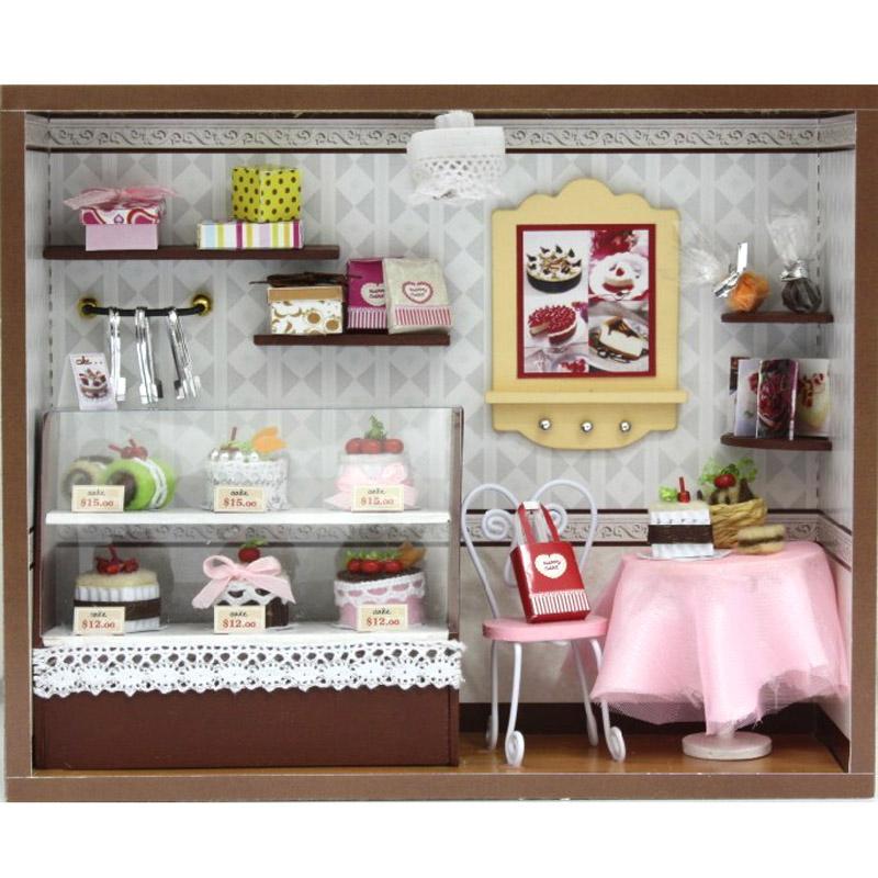 Miniature Doll House Lighting Room Box Dollhouse Kit