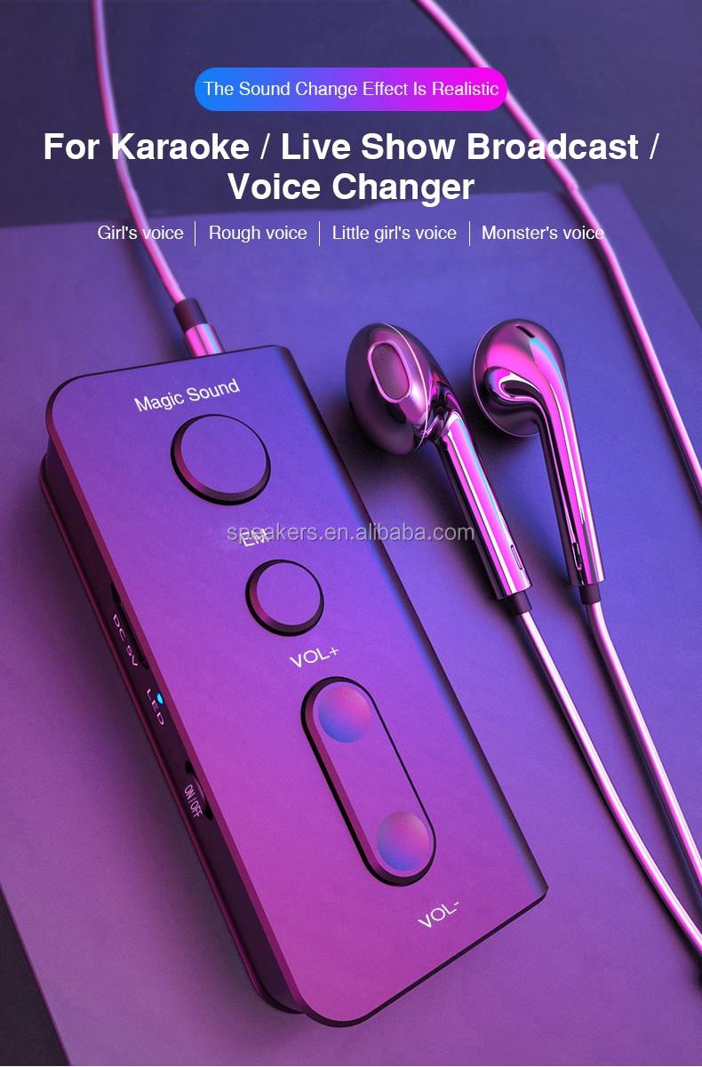 OEM Custom Hidden Male Female Voice Microphone Echo Sound