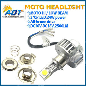 New 24W 2500LM LED Motor Headlight Universal Kit H6 Motor Bulb Lamps Canbus for Yamaha for BMW