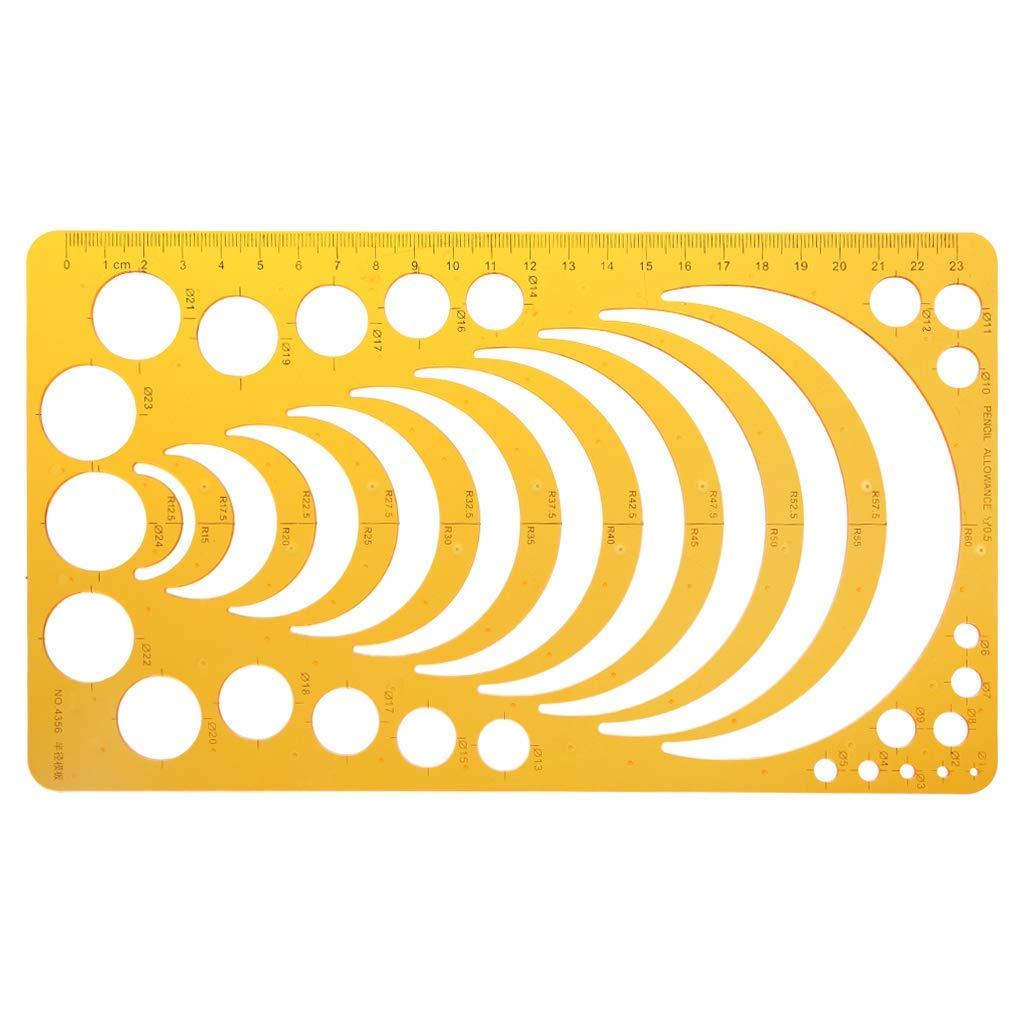 Home Mart Multifunctional Ruler Circle Ruler Template Ruler Measuring Tool Circles Shapes Figure Drafting Template