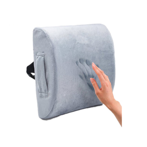 Wheelchair Foldable Backrest Memory Foam Orthopedic Car Lumbar Back Support Seat Cushion Back Pain Cushion for Sofa Office Chair