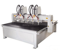 high efficient cnc router engraving machine/multi heads cnc for wood door craft