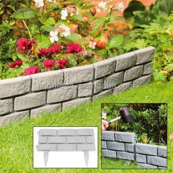 Decoratif En Plastique Jardin Brique Bordure Pour Patio Cloture