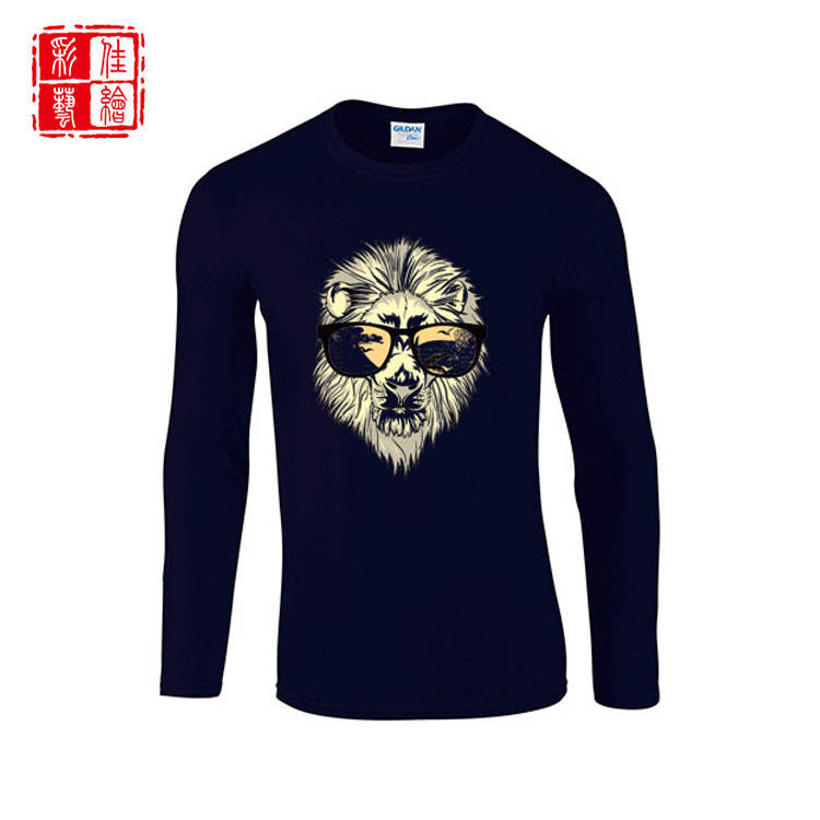 OEM o-neck 100% cotton long sleeves custom men's t shirts for printing