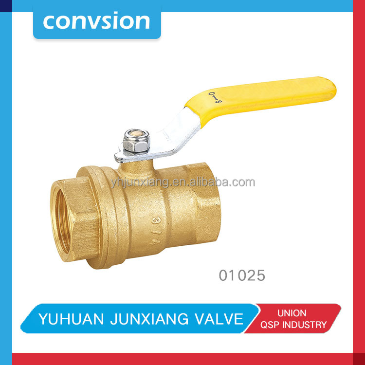 Convsion 1/4 inch PT Male to Female Thread Red Handle Compression Lever 1000 wog ball valves