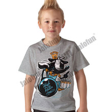 Custom screen printing 100% combed cotton children clothing t shirts