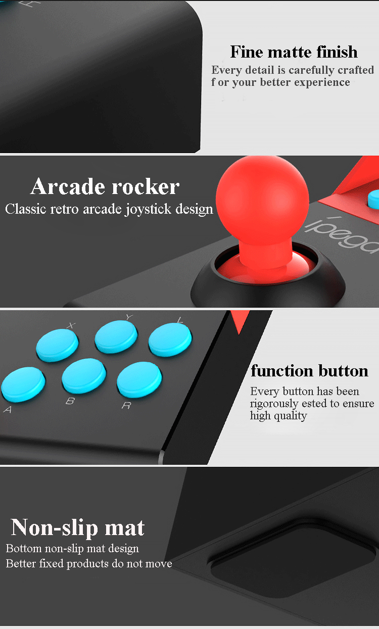 New PG-9136 USB Rocker Game Controller DC5V/20mA Arcade Joystick Gamepad For Nintendo Switch Fighting Game
