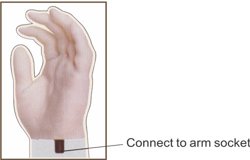 HS70F   Prosthetic Silicone  Glove for Female Adult People , Amputee , hand prosthetic