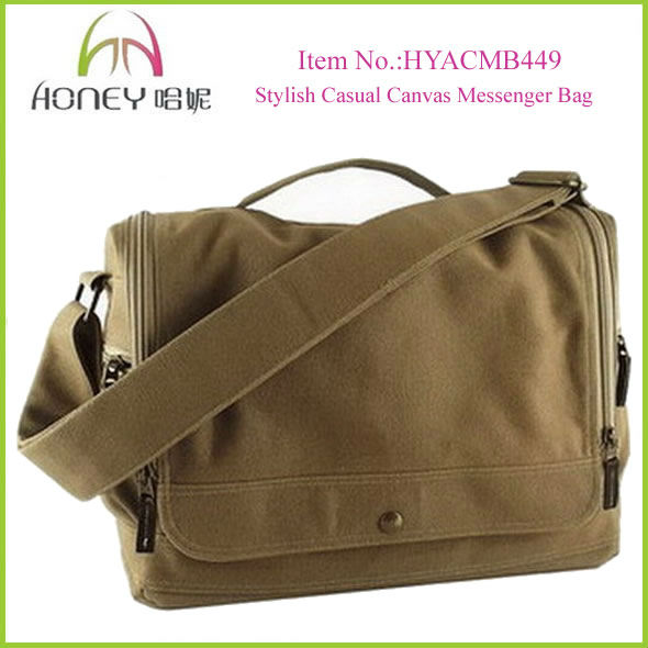 Fashion Canvas Man Bag Casual Khaki Canvas Messenger Men Blank Canvas Bag