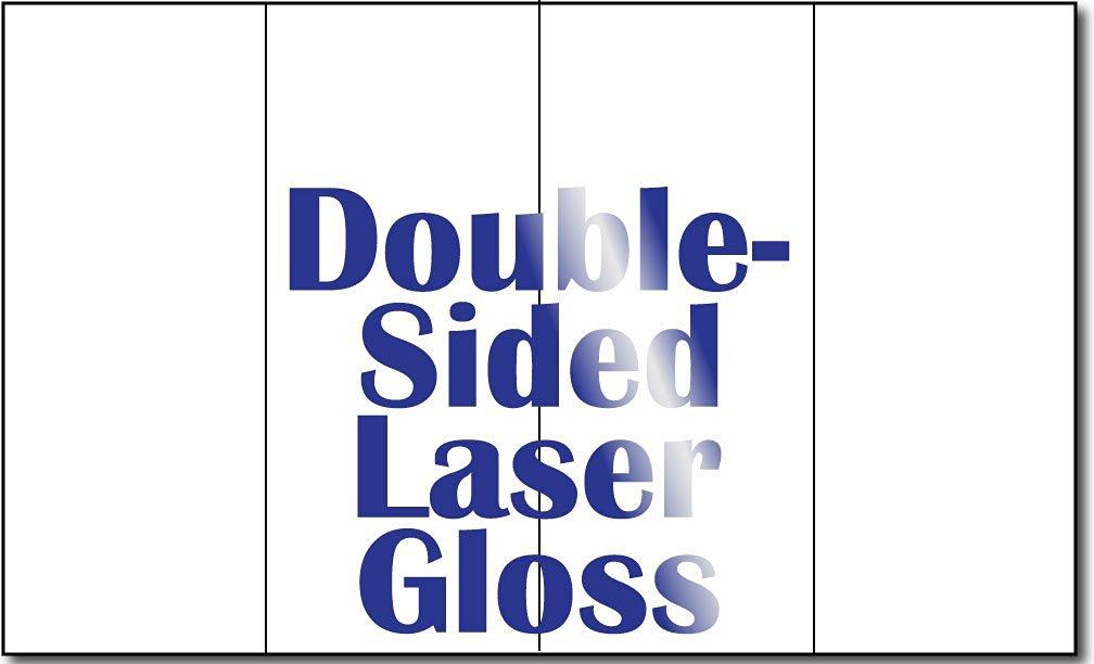 "8 1/2"" x 14"" 4 Panel 38lb Bond Laser Gloss Brochure Paper - 250 Brochures"
