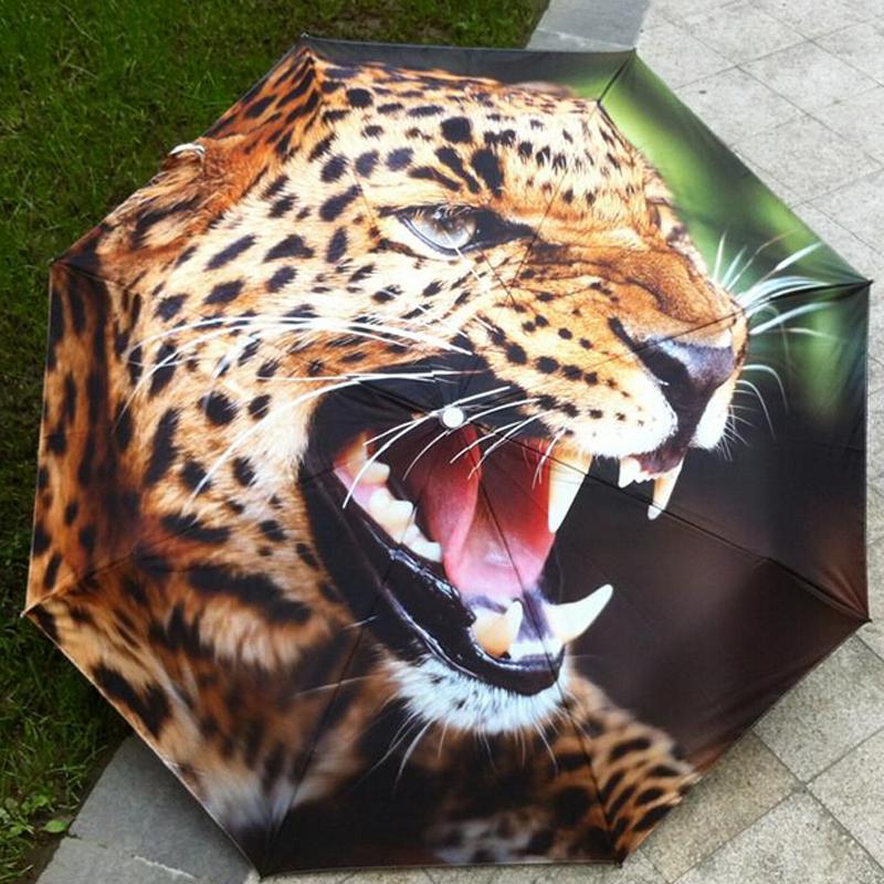 2016 новые элементы новизны живопись маслом искусства зонтик творческий голодный леопард зонты дети анти-уф декоративные дождь женщины