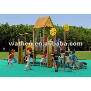 PE Outdoor Wood Children Playground Equipment