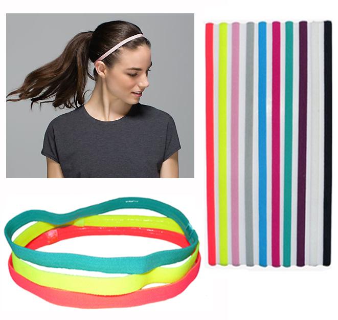 10 pieces lot Sports Elastic Headband Football Softball Rubber Plastic Silicone Hair Band Bandage On