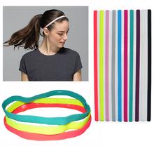 6 Pieces Lot Sports Elastic Headband Football Softball Rubber Plastic Silicone Hair Band Bandage On Head