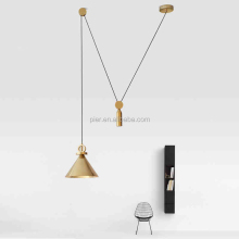 High Quality Indoor Golden Ceiling Light Modern Decorative Copper Pendant Lamp
