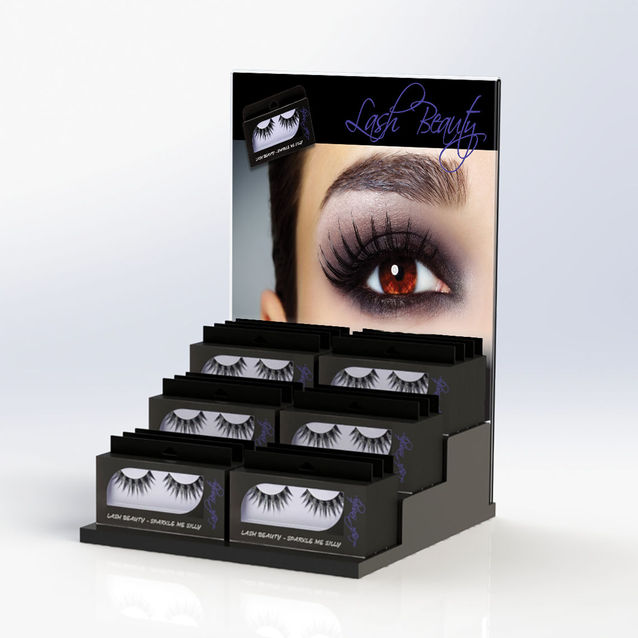 Acrylic Eyelash Extension Display Plexi Acrylic False Eyelash <strong>Retail</strong> Display Stand