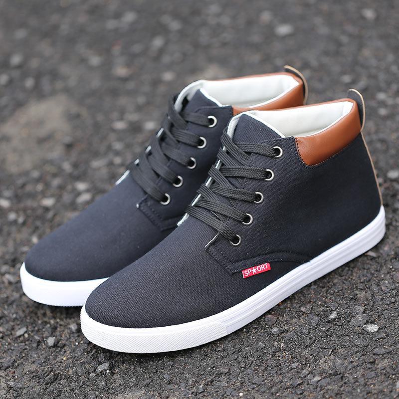 2015 printemps homme high top chaussures la tendance de chaussures casual chaussures hommes. Black Bedroom Furniture Sets. Home Design Ideas