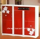 colorful red high tech hot sale Shoe cabinet