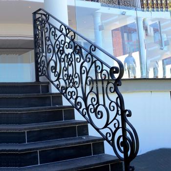 Forja de hierro forjado barandilla interior pasamanos de - Escaleras de hierro forjado ...