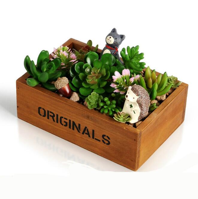wholesale flower succulent pots wood box