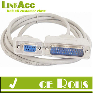 linkjc 6 Foot DB9 Female TO DB25 Male Null Modem Serial Cable RS232
