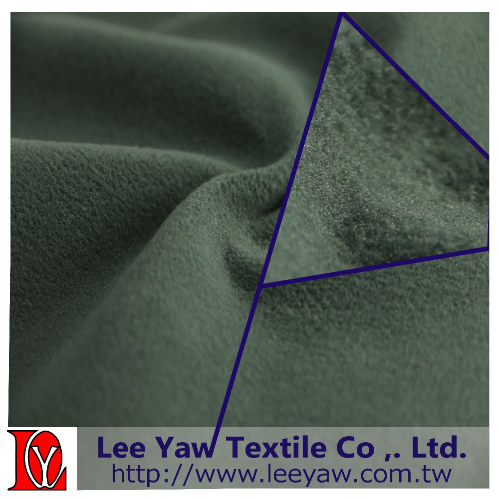 100% polyester fleece fabric made of microfiber fleece and TPU laminated