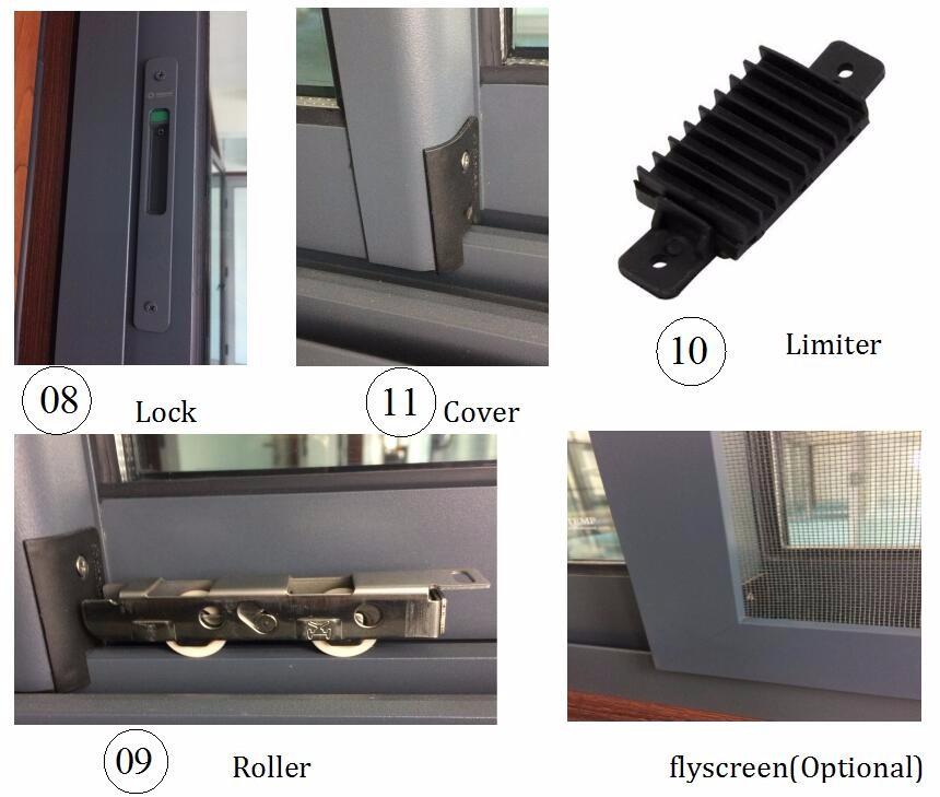 Cheap Aluminium Awning Windows Top Hung Window Blinds ...