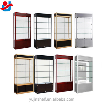 Shop Used Lockable Glass Doors Ornaments Glass Display Cabinet With Storage  Cabinet