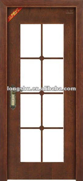 Interior puerta de cristal de madera dise os para oficina for Puertas de madera y cristal para interiores