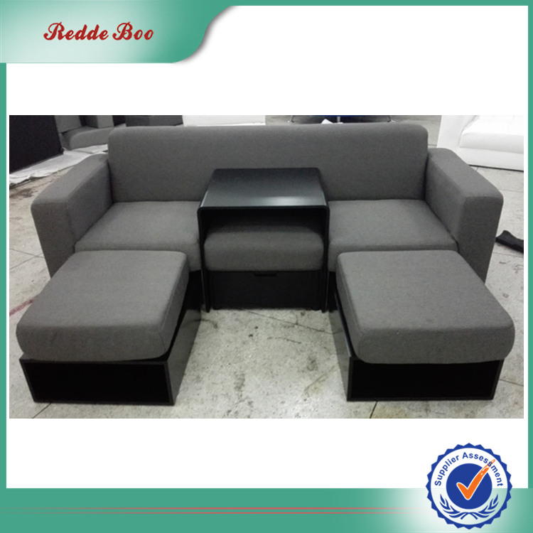 Simple style imported grey fabric leather sofa design with table