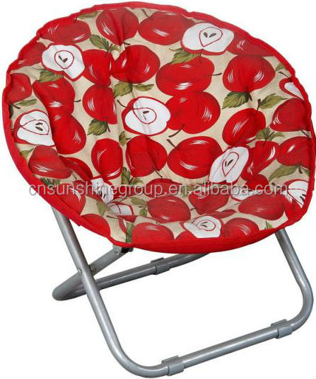 Folding round outdoor moon chairs,folding aluminum sling beach chair