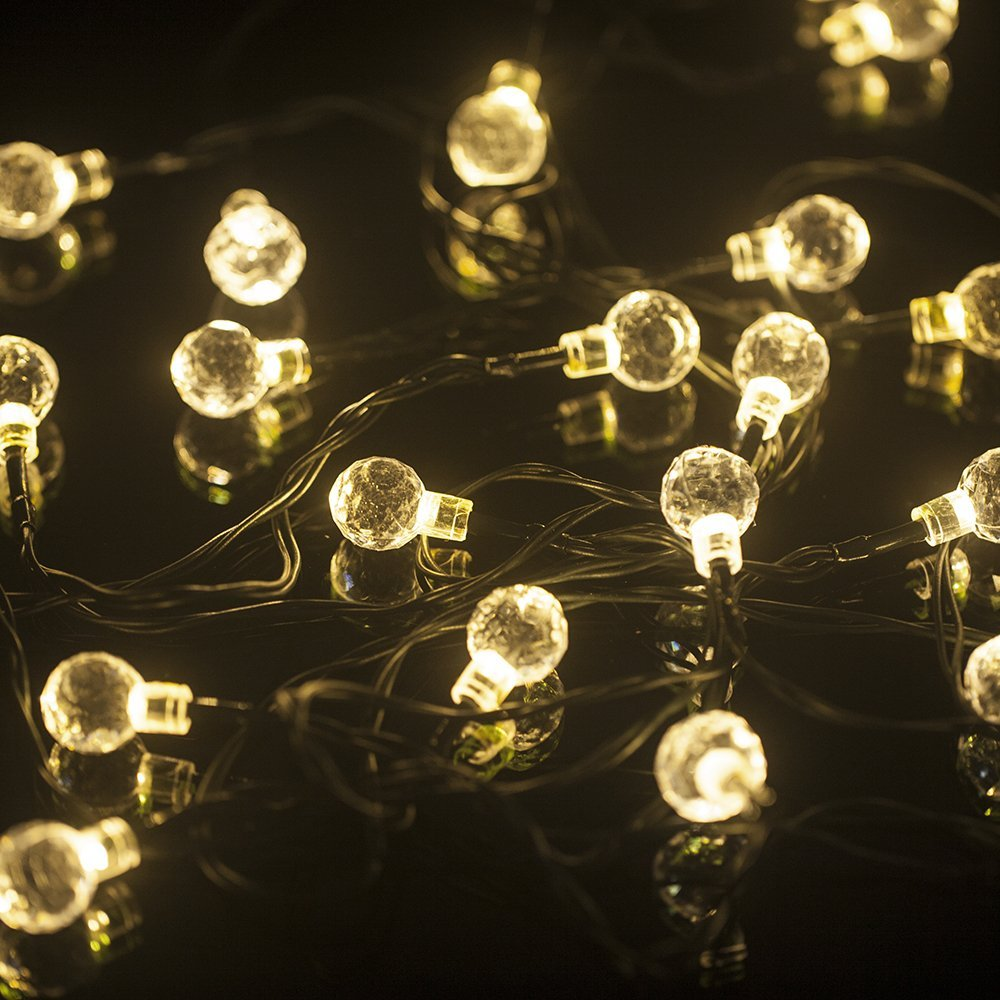 Buy mt tech solar powered patio string lights for outdoor garden mt tech 20 led christmas lights solar string fairy lights for outdoor party garden aloadofball Images