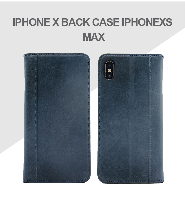 Flip folding pu leather magnetic folio leather phone case for iPhone xs max custom card slot luxury leather flip cover case
