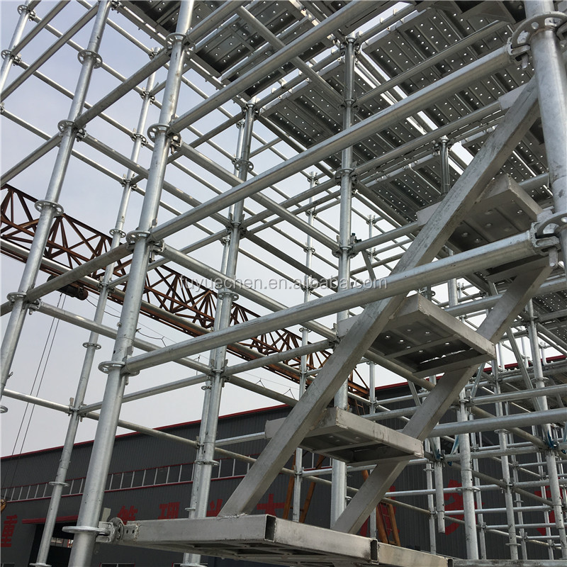 Real factory Galvanized Ring Lock Scaffolding System Round Plate Scaffold with ISO 9000