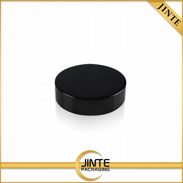 China factory 10 Years experience Recyclable Cosmetic aluminum matte shiny black Cap for jar bottle